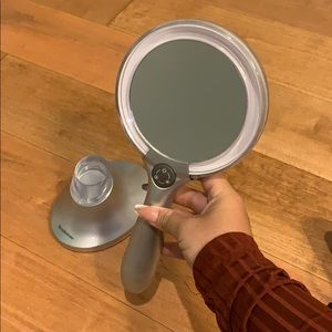 Brookstone Lighted Makeup Mirror and Stand